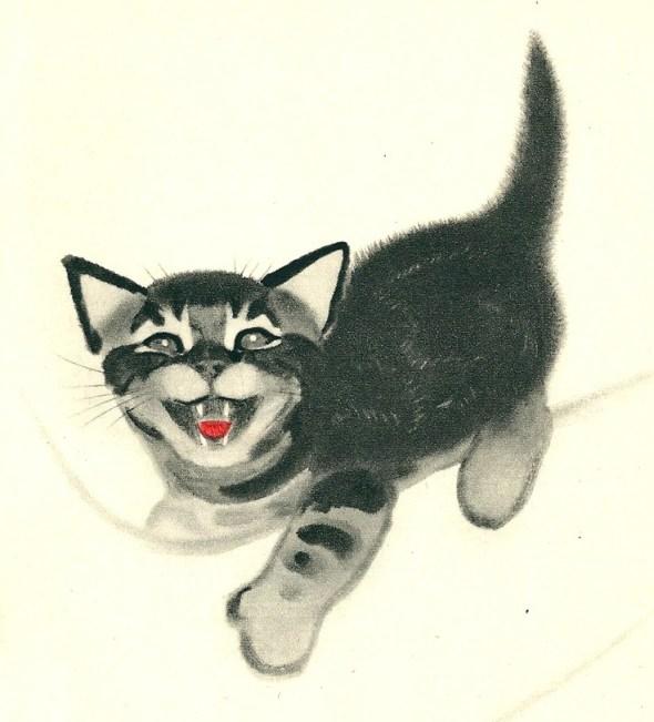 Clare Turlay Newberry Kitten Meowing
