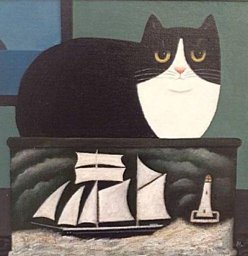 Bon Voyage, M. Leman, cat art, cat paintings