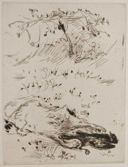 Sketch - Cat and Bird, Bonnard