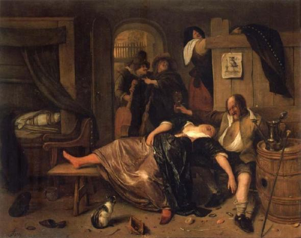 Jan Steen-the drunken couple 1660
