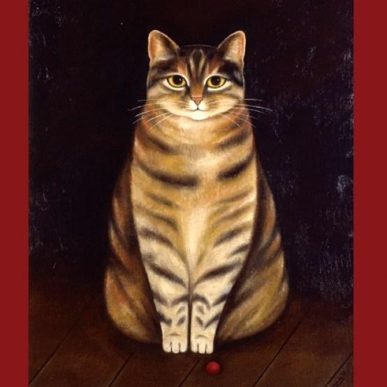 Martin-Leman-Loopy, cat art, cat paintings