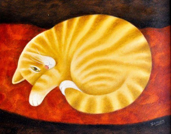 Orange Cat Sleeping, Martin Leman