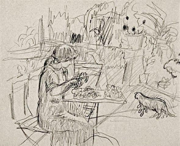 Femme assise au jardin Woman Sitting in a Garden, Pierre Bonnard