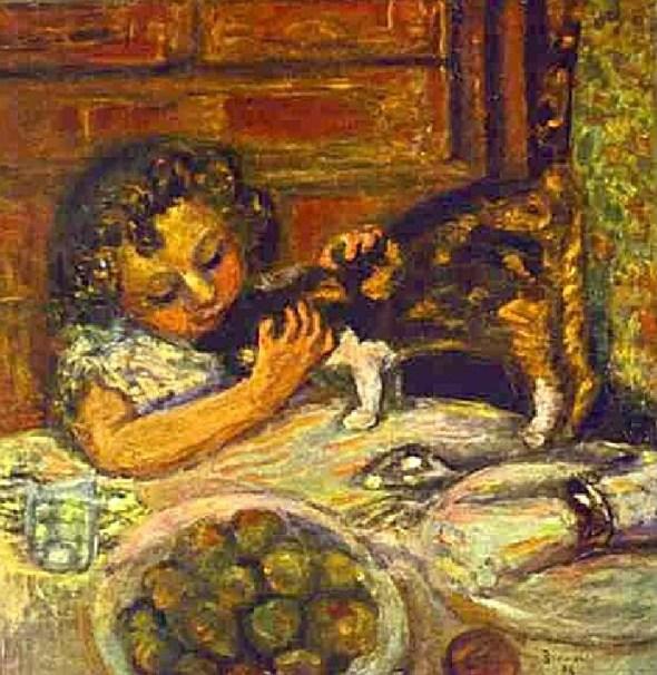 Pierre Bonnard Petite fille au chat, c. 1899