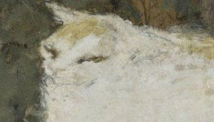 Detail, The White Cat, P. Bonnard