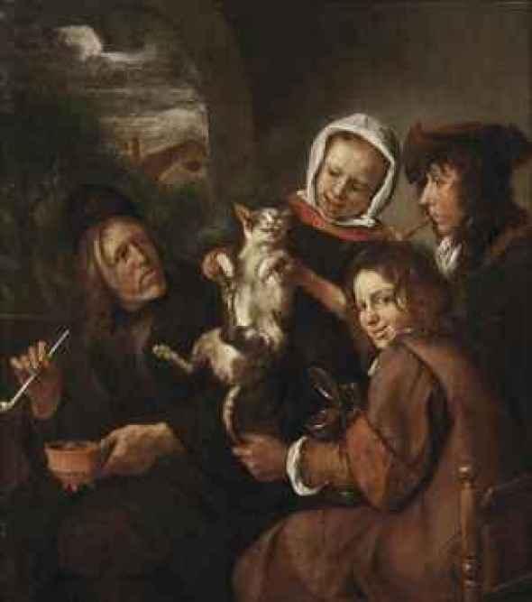 Children Teasing a Cat, Jan Steen
