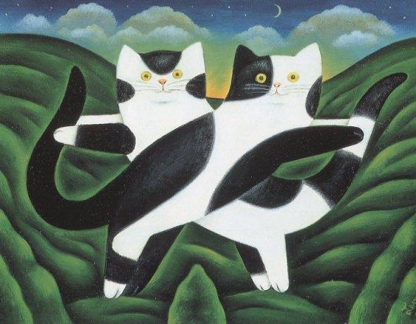 Winsor and Newton, M. Leman, cat art, cat paintings