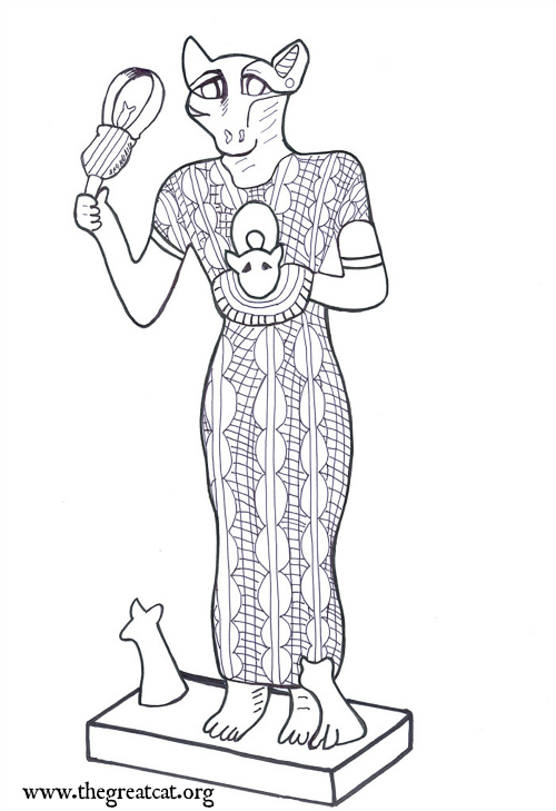 ANCIENT EGYPTIAN CATS A COLORING BOOK FOR ADULTS AND CHILDREN