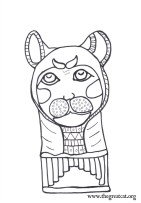 Cat Mummy Face, Ancient Egyptian Cats A Coloring book
