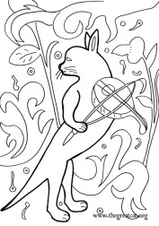 Cat and Fiddle, 1470, Medieval Cats Coloring Book, cat coloring book, adult coloring book
