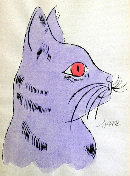 Andy Warhol, Violet Sam with Red Eyes