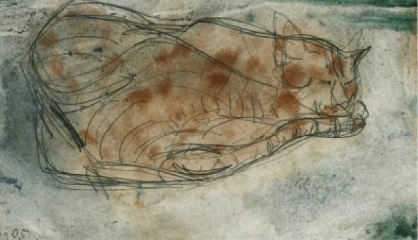 Sleeping Cat 2, Paul Klee