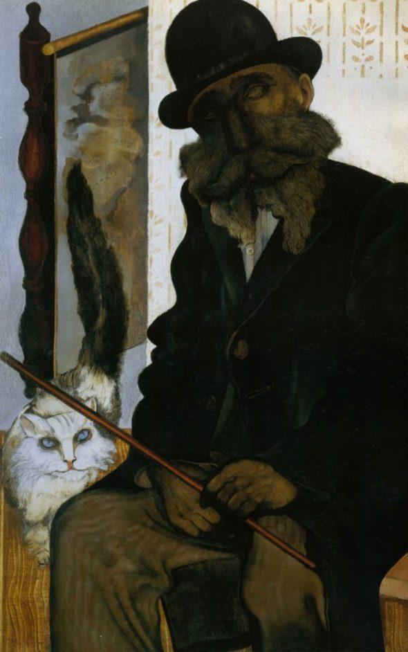 1925-AdlerCléron, el criador de gatos (1925) -- Jankel Adler