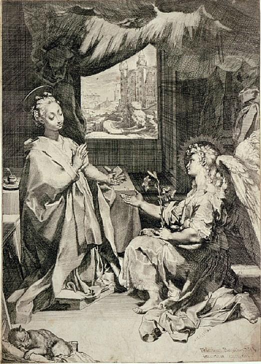 The Annunciation Sketch Federico Barocci
