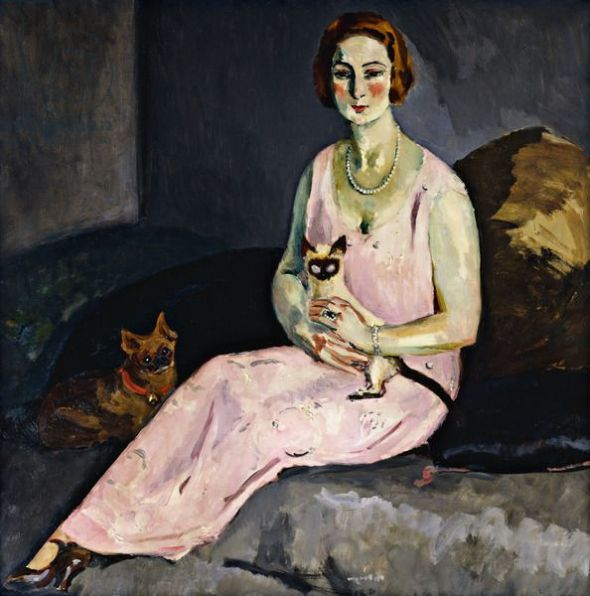 Woman with a Siamese Cat; (La Dame au Chat Siamois), 1924, by Kees Van Dongen