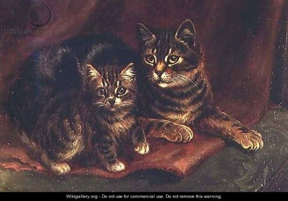 A Tabby Cat with a Kitten - Wilson Hepple