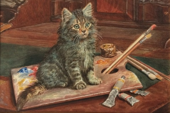 Cat and the Paint.Wilson Hepple