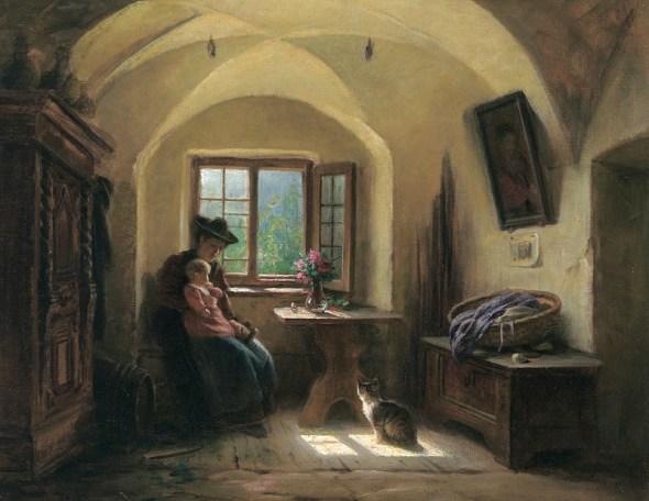 Rudolf Epp, In der Stube mit katze