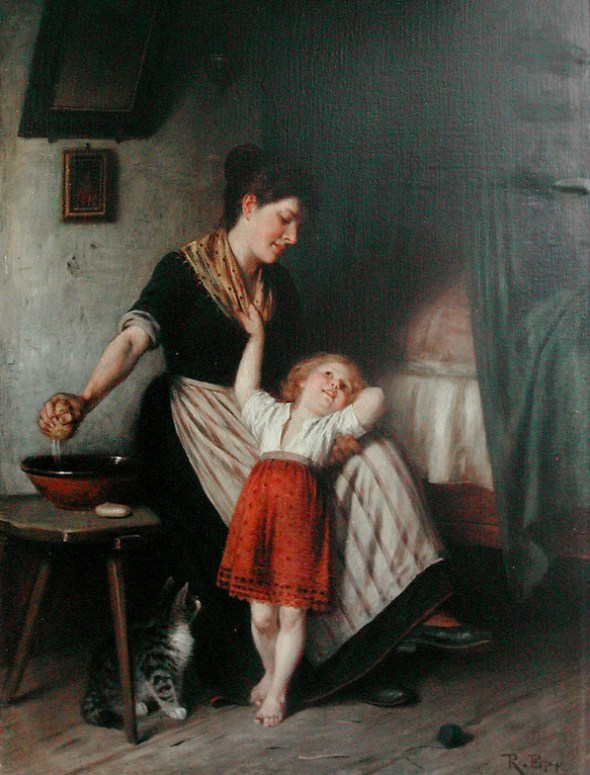 Rudolf Epp, The Morning Wash with the cat