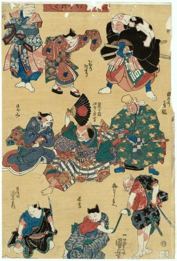 Utagawa Kuniyoshi cats
