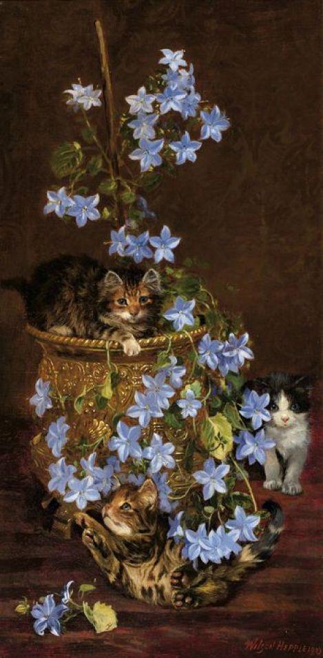 Kittens and Flowers, Wilson Hepple