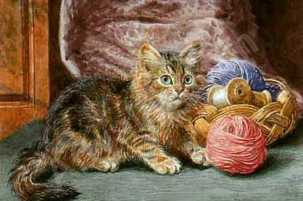 Wilson Hepple, Kittens playing with a Ball