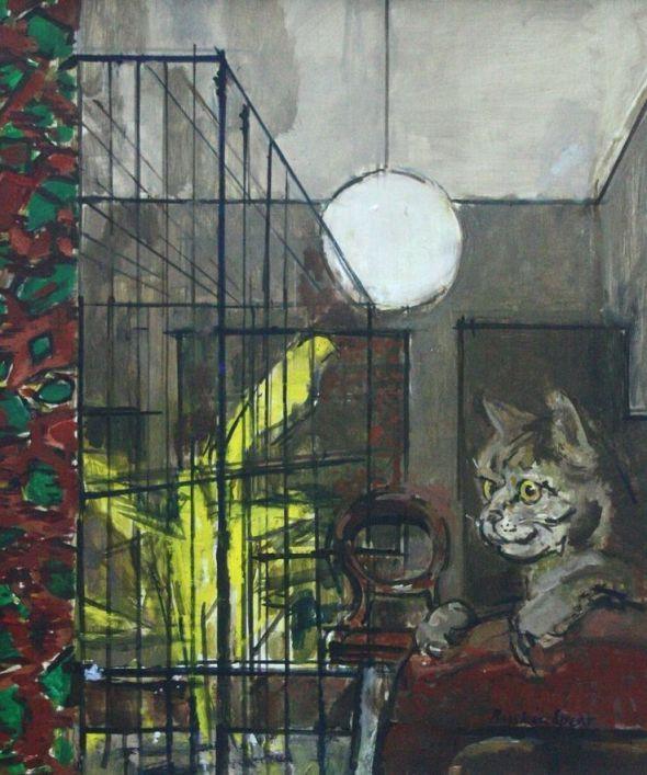 Ruskin Spear R.A. (1911-1990) - Hogarth's Cat circa 1963-64 - Oil on board