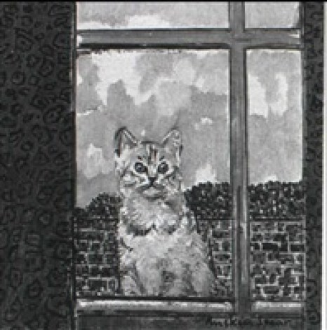 Ruskin Spear, The Studio Window, cat art