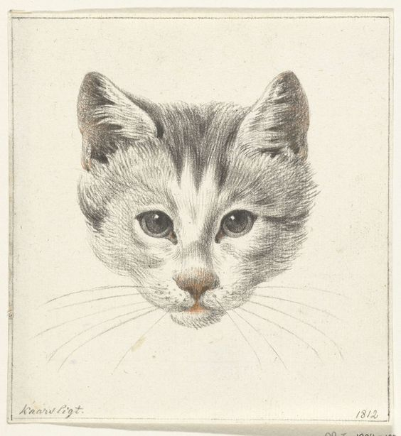 Cat Head Facing Forward, Jean Bernard 1775-1833