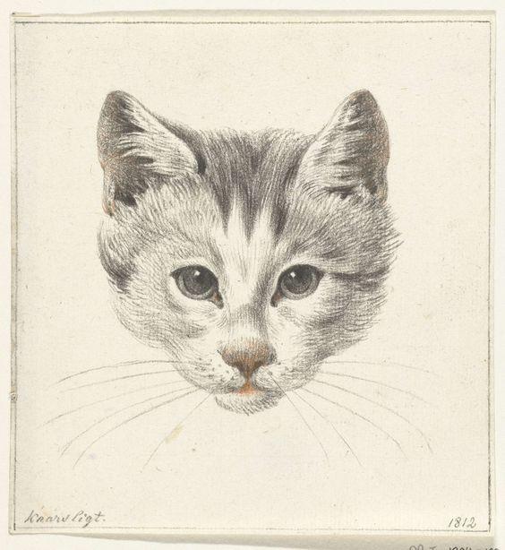 Cat Head Facing Forward, Jean Bernard 1775-1833