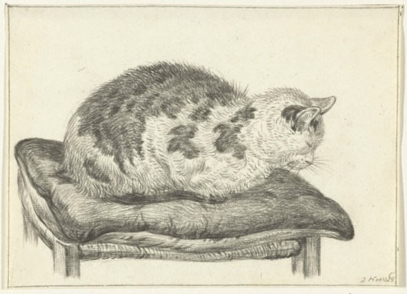 Cat on a Stool, 1828, Jean Bernard