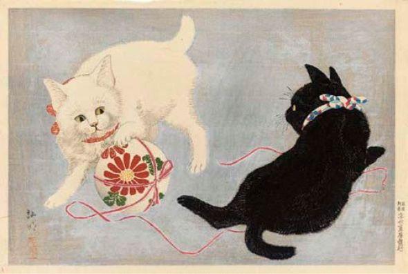 Cats with a Ball Shotei Takahashi Hiroaki