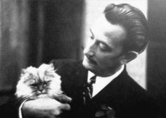 Salvador Dali and cat