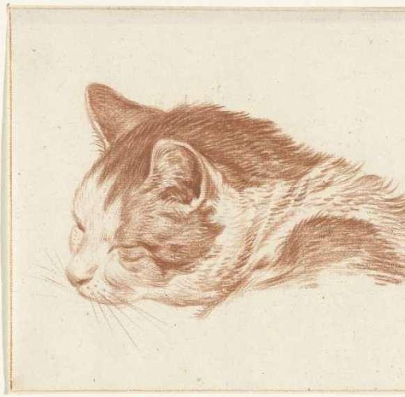 Ginger Cat Sleeping, 1818, Jean Bernard