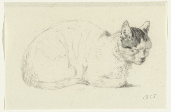 Seated Cat Facing Right, 1815, Jean Bernard