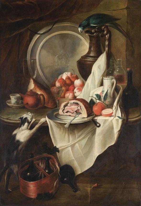 Alexandre-Francois Desportes, Cat Stealing Food