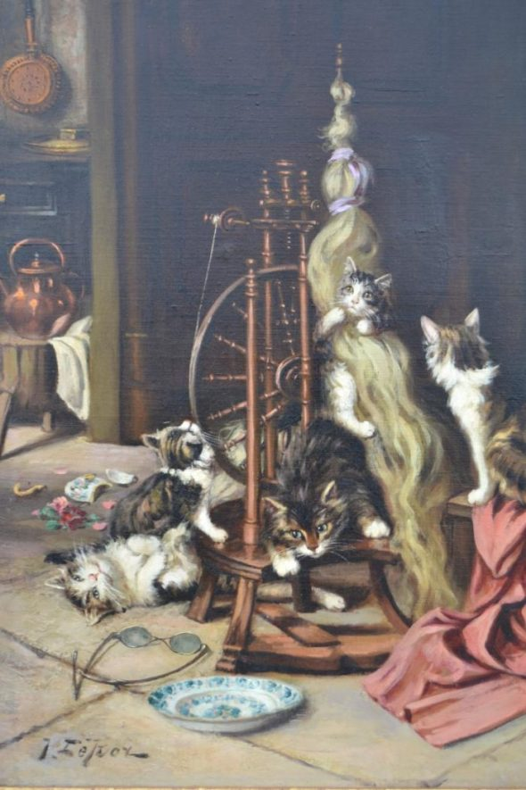 Jules Gustave Le Roy, Cats on a Spinning Wheel