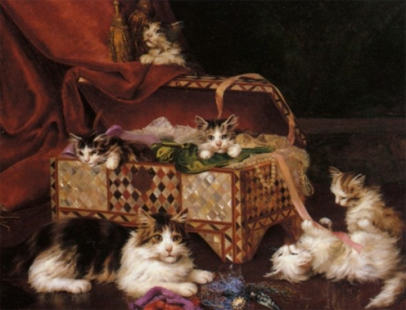 Jules Le Roy, Kittens Playing with a Chest