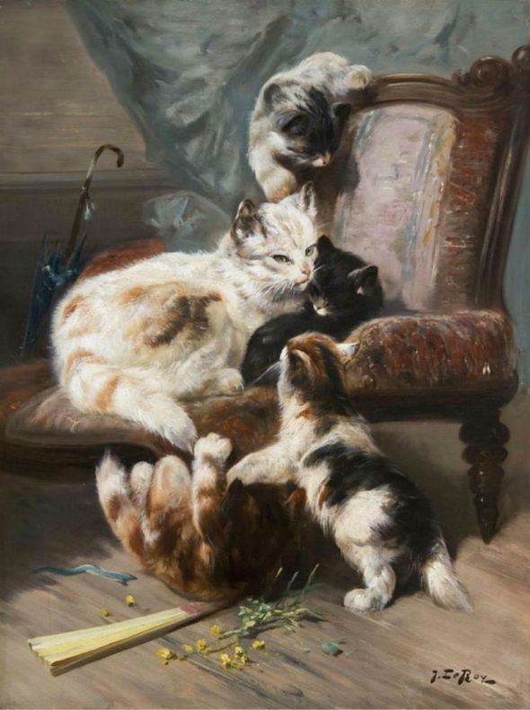 Jules Le Roy, Kittens on a Stool