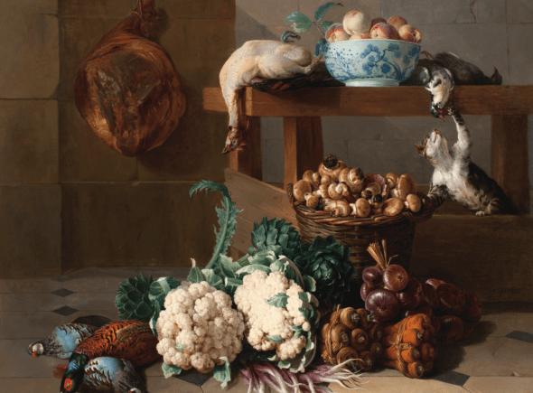 Still Life With a Cat, Alexandre-Francois Desportes, 1724
