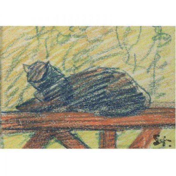 Blue Cat, Theophile Steinlen