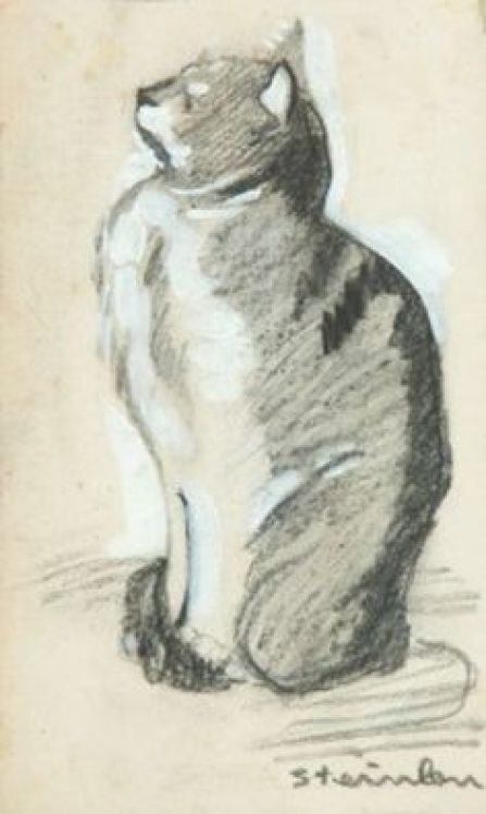 Cat Looking Up, Theophile Steinlen