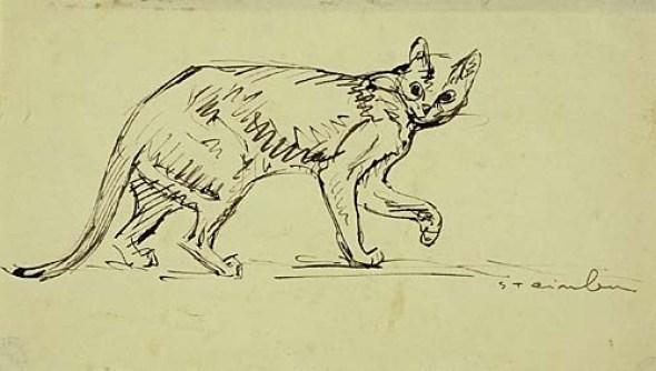 Cat Walking, Theophile Steinlen