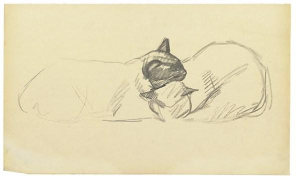 Deux Chats Endormis, Theophile Steinlen