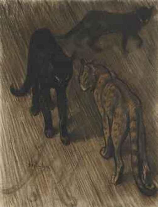Les Trois Chats , Theophile Steinlen