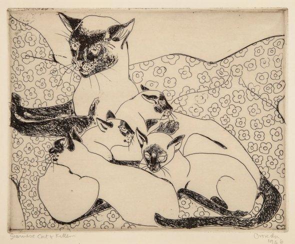 Orovida Camille Pissarro, Siamese Cats