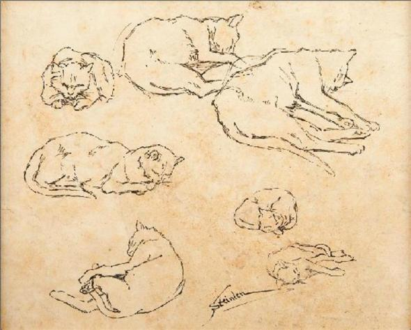 Sketches of Cats, Theophile Steinlen