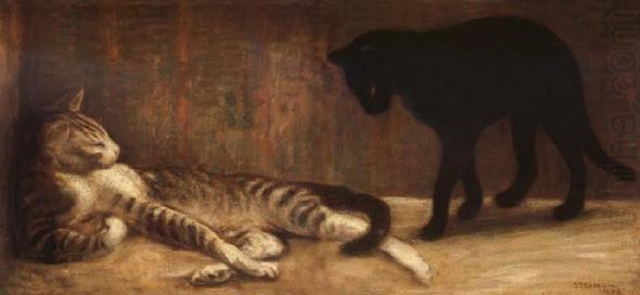 Theophile Steinlen Chat et Chatte