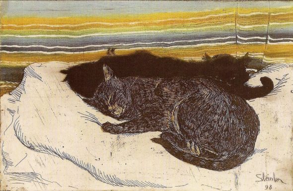 Theophile Steinlen, Deux chats