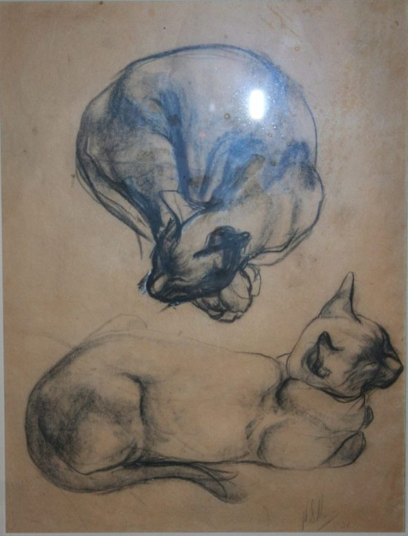 Theophile Steinlen, Siamese Cats